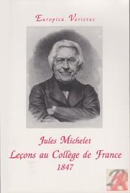 LECONS AU COLLEGE DE FRANCE 1847