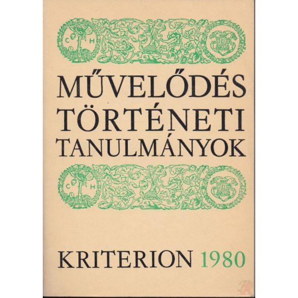 MŰVELŐDÉSTÖRTÉNETI TANULMÁNYOK 1980