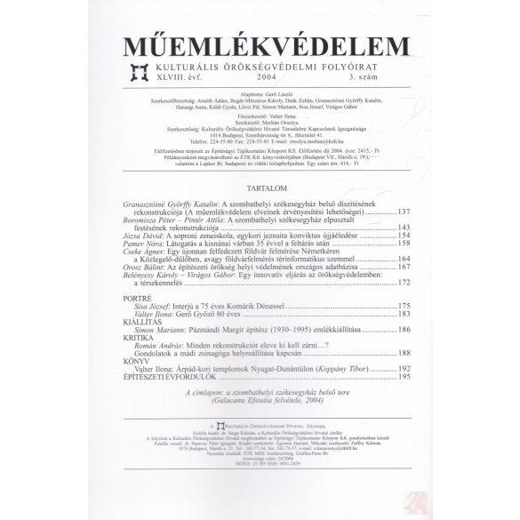 MŰEMLÉKVÉDELEM - XLVIII. évf., 2004/3.