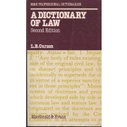 A DICIONARY OF LAW