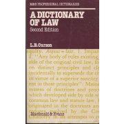 A DICIONARY OF LAW