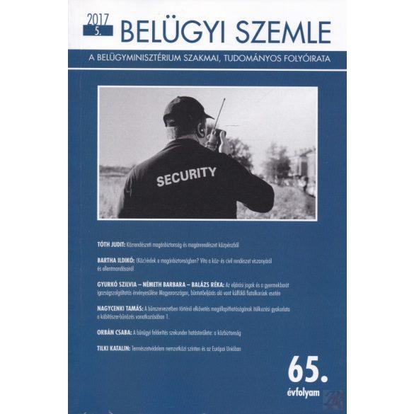 BELÜGYI SZEMLE 2017/5