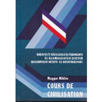 COURS DE CIVILISATION