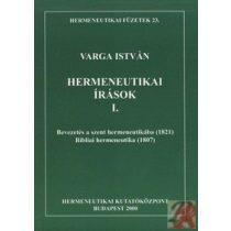 HERMENEUTIKAI ÍRÁSOK I.