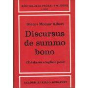 DISCURSUS DE SUMMO BONO