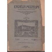ERDÉLYI MÚZEUM 1909. XXVI. kötet, 2. füzet