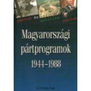 MAGYARORSZÁGI PÁRTPROGRAMOK 1944-1988, 3. KÖTET