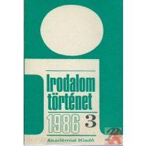IRODALOMTÖRTÉNET 1986/3