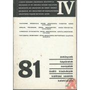 A MAGYAR MÚZEUMOK KIADVÁNYAI 1981