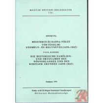 BESZTERCE ÉS RADNA-VÖLGY TÖRTÉNELMI SZEMÉLY- ÉS HELYNEVEI (1698-1865)