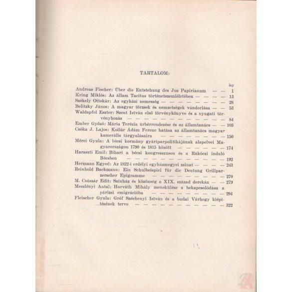 A GRÓF KLEBELSBERG KUNÓ MAGYAR TÖRTÉNETKUTATÓ INTÉZET ÉVKÖNYVE V. évfolyam