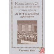 AZ 1674-es GÁLYARABPER JEGYZŐKÖNYVE