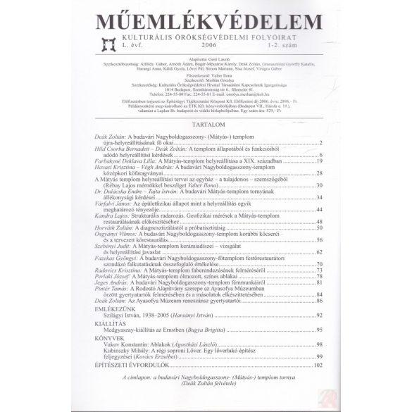 MŰEMLÉKVÉDELEM - L. évf., 2006/1-2.