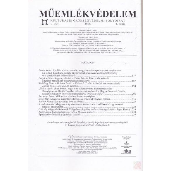 MŰEMLÉKVÉDELEM - L. évf., 2006/4.