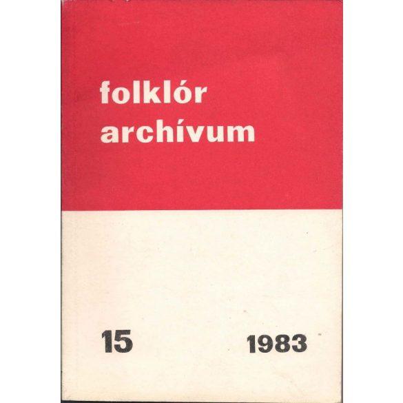FOLKLÓR ARCHÍVUM 15.