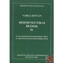 HERMENEUTIKAI ÍRÁSOK II.