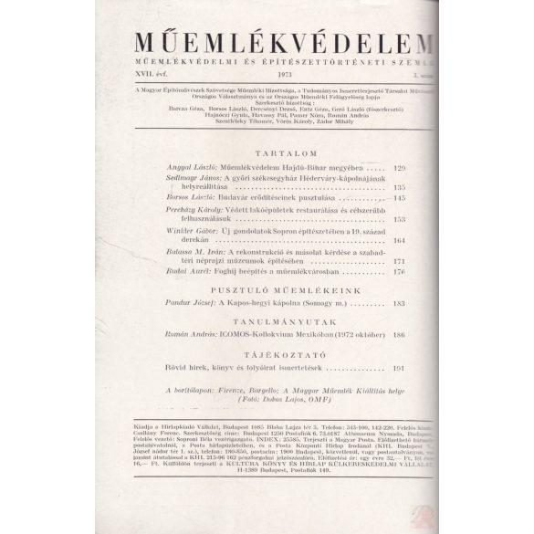 MŰEMLÉKVÉDELEM - XVII. évf., 1973/3.
