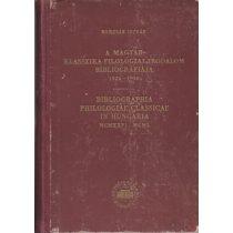 A MAGYAR KLASSZIKA-FILOLÓGIAI IRODALOM BIBLIOGRÁFIÁJA1926-1950