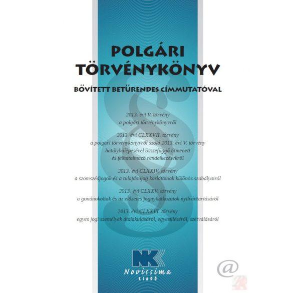 POLGÁRI TÖRVÉNYKÖNYV - Címmutatóval (A/4 méretű)