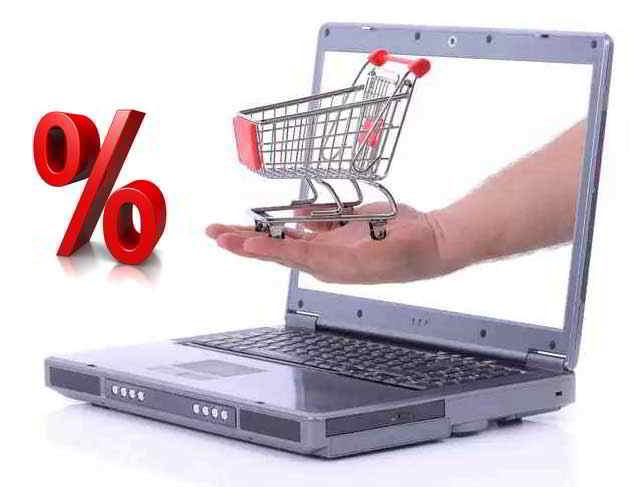 internetes vásárlás logo-bevásárlókocsi-százalék