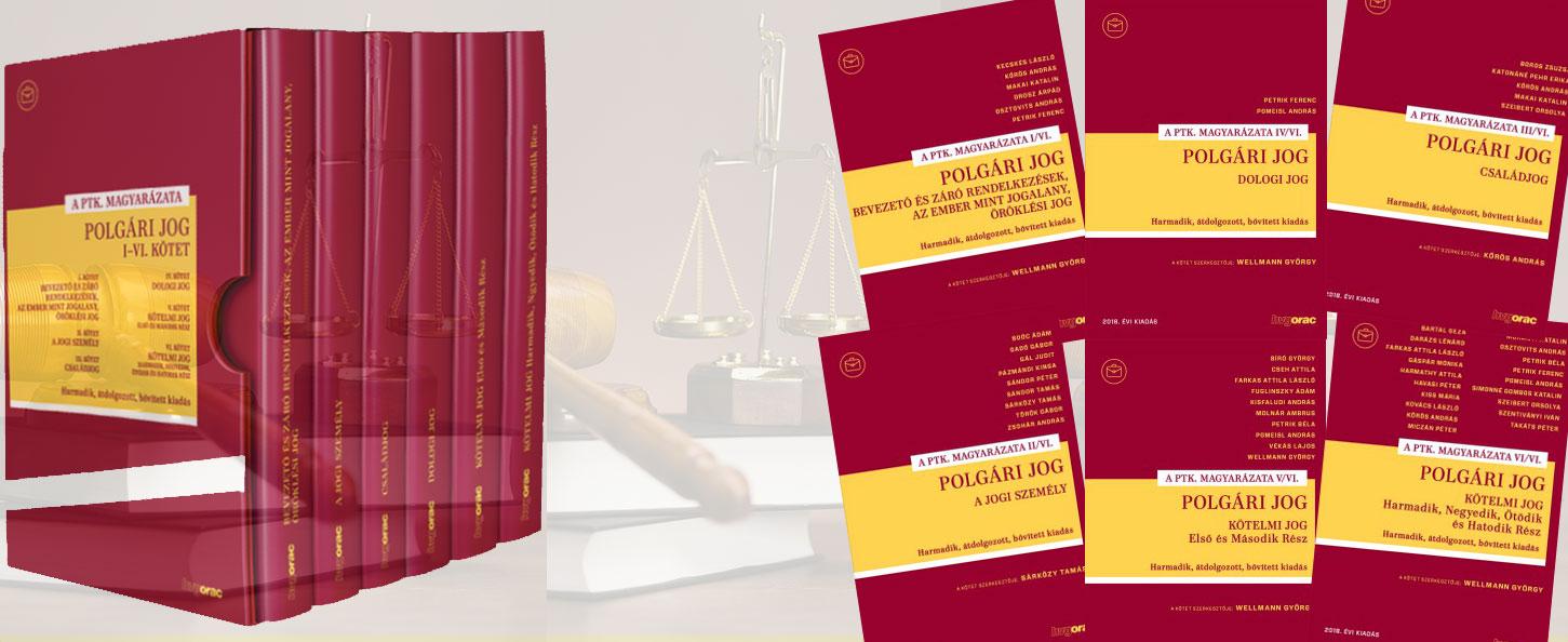 Polgári eljárásjog I-VI. és kötetei