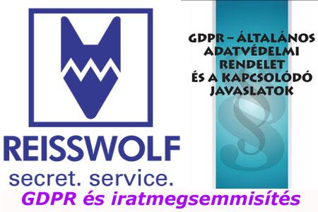 A Reisswolf Budapest kft. és a GDPR adatvédelmi rendelet.