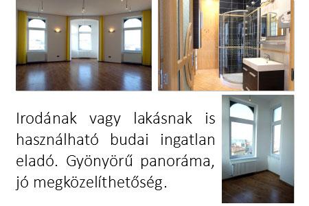 Irodának is megfelelő szép lakás a Széna térnél.