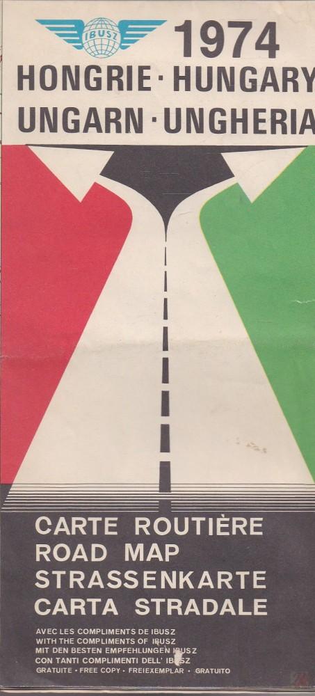 HONGRIE-HUNGARY-UNGARN-UNGHERIA CARTE ROUTIERE-ROAD MAP... 1974